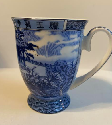 Blue Romance Bone China Mug