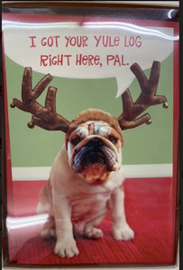 Pug With Reindeer Antlers Boxed Cards