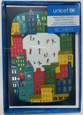 Skating City Scene Boxed Cards - UNICEF