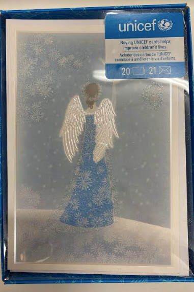 Blue And White Angel Christmas Cards - UNICEF