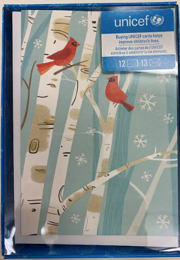 Cardinals On Birch Trees Boxed Cards