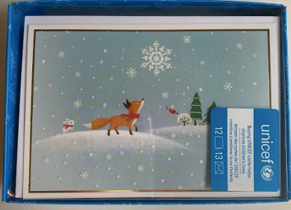 Fox And Hare With Snowflake Boxed Cards