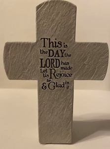 """This Is The Day The Lord Has Made"" Ceramic Cross."