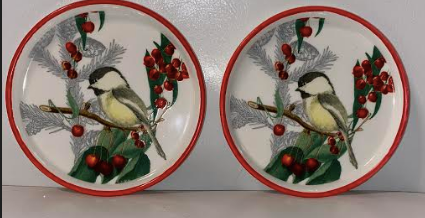 Chickadee Christmas Coaster Two Set