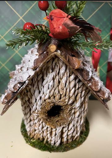 Bird House With Cardinal
