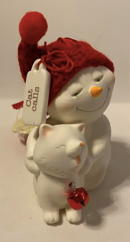 Snowman Cat Calls Ornament