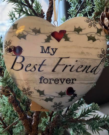 My Best Friend Forever Heart Ornament