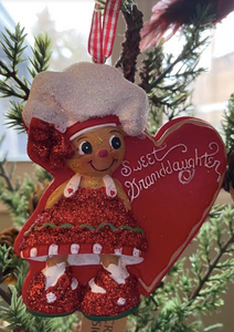 Sweet Granddaughter Gingerbread Ornament