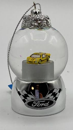 Water Globe Race Car Ornament