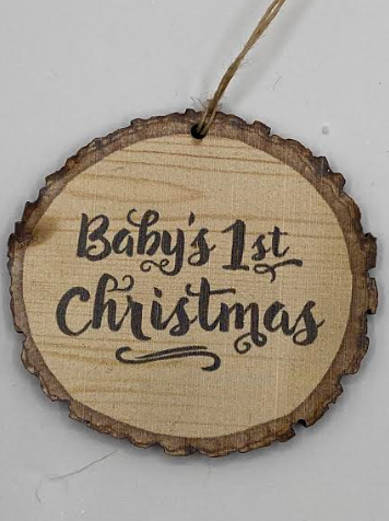 Baby's First Birch Bark Ornament