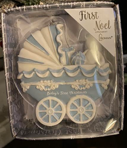Baby's First Christmas Baby Carriage Ornament