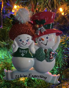 Snowman We're Expecting Ornament