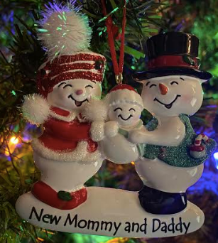 Snowman New Mommy & Daddy Ornament