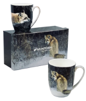 Robert Bateman Foxes Set of 2 -Mugs