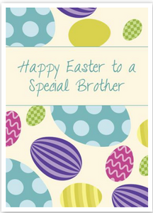 """Happy Easter To A Special Brother"" Card"