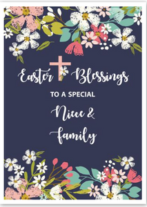 """Happy Easter to A Special Niece & Family"" Card"