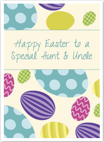 """""""Happy Easter To a Special Aunt & Uncle"""" Card"""