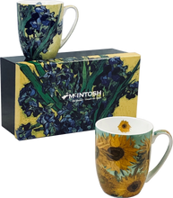Load image into Gallery viewer, van Gogh Flowers Set of Two Mugs