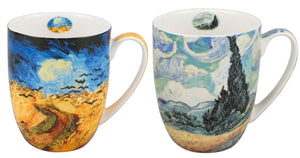 van Gogh Wheat fields Set of Two Mugs