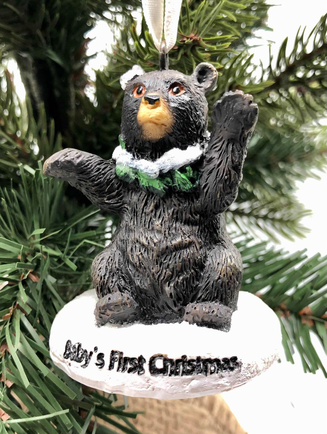 Baby's First Christmas Bear Ornament