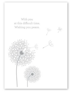"""Wishing you Peace"" Dandelion Card"