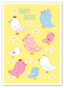 """Happy Easter"" Chicks Card"