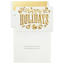 Load image into Gallery viewer, Happy Holidays Signature Premium Boxed Cards