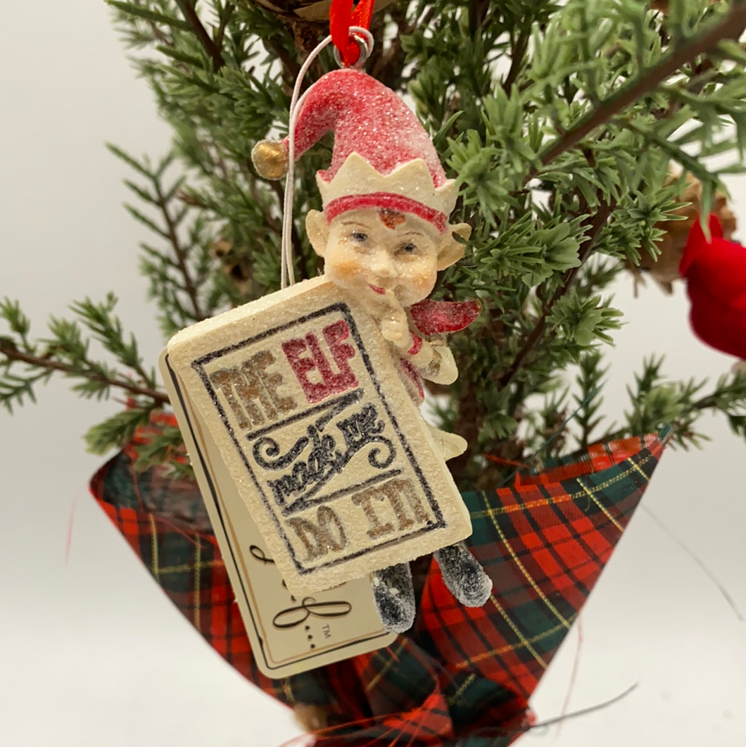 Elf On The Shelf Ornament