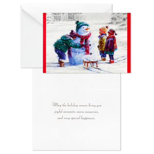 Building a Snowman, Christmas Cards (16 per box)