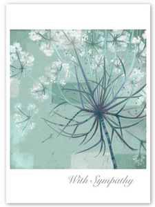 """With Sympathy"" Dandelion Card"