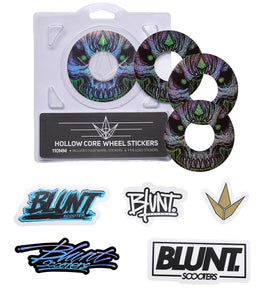 Blunt Envy 110mm Replacement Wheel Graphics - Skull