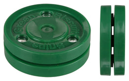 Green Biscuit Ice Hockey Training Puck - Snipe