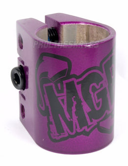 Madd MGP Scooter Triple Collar Clamp - Purple