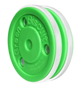 Green Biscuit Ice Hockey Training Puck - Pro
