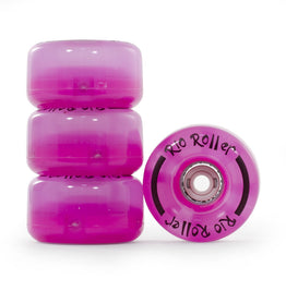 Rio Roller Flashing Light Up Roller Skate Wheels - Clear Pink