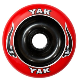 Yak Scat Black Red Metal Core 100mm  Scooter Wheel