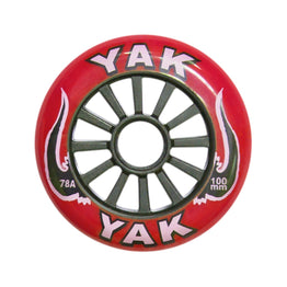Yak Classic 100mm Red / Black High Performance Scooter Wheel