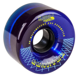 Clouds Urethane Wheels Quantum (4 Pack) Clear/Blue 62mm