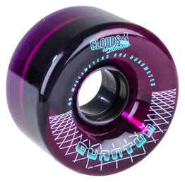 Clouds Urethane Wheels Quantum (4 Pack) Clear/Purple 62mm