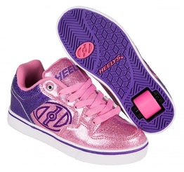 Heelys Motion Plus Shoes - Purple/Pink Glitter