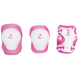 Zycom Childs Protective Triple Pad Set - White Pink