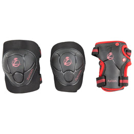 Zycom Childs Protective Triple Pad Set - Black Red