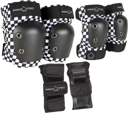 Pro-Tec Street Gear Junior 3 Pack Pad Set - Checkered
