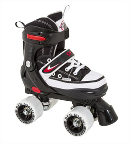 SFR Miami Adjustable Roller Skates -Black / White