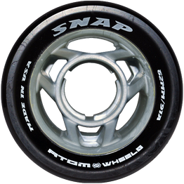 Atom Snap Rollerskate Wheels - Black  (Pack of 8)