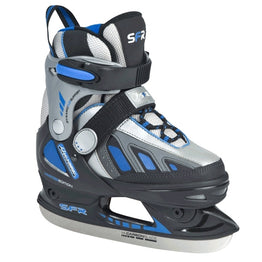 SFR Size Adjustable Soft Boot Ice Skate - Blue -Hockey Blade