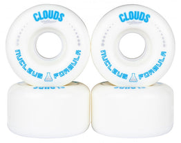 Clouds Urethane Nucleus Roller Skate Wheels 62mm - White