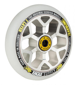 Eagle Supply Hard line 1 Layer / 6M Core Snowballs Wheel 110mm - Silver / White