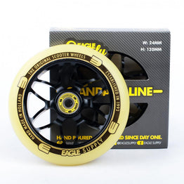 Eagle Supply Standard X6 Core 120mm Scooter Wheel - Black/Yellow