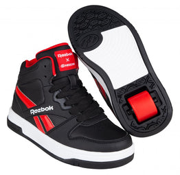 Reebok X Heelys Adult Mid Top Shoes - Black / Vector Red / White